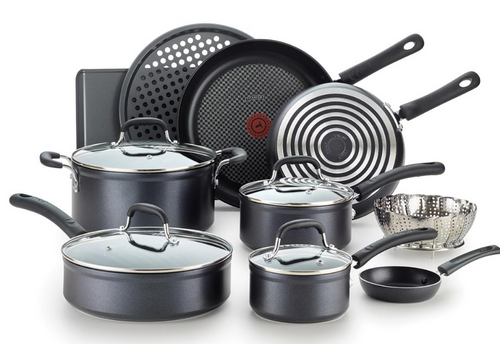 T-fal 14-Piece Forged Non-Stick Cookware Set ( H125SEDI