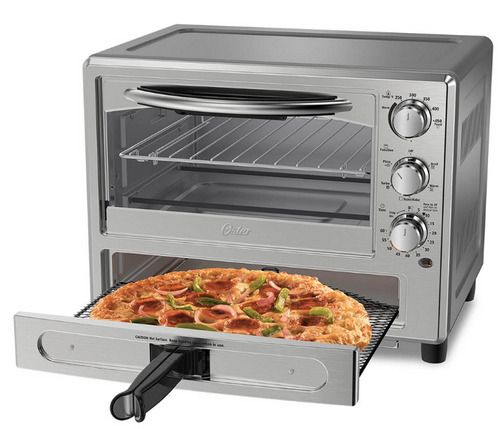 Oster Convection Oven with Pizza Drawer - Silver (TSSTTVPZDA)