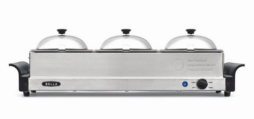 Bella 3 x 1.5-Qt. Triple Buffet Server (14842 )