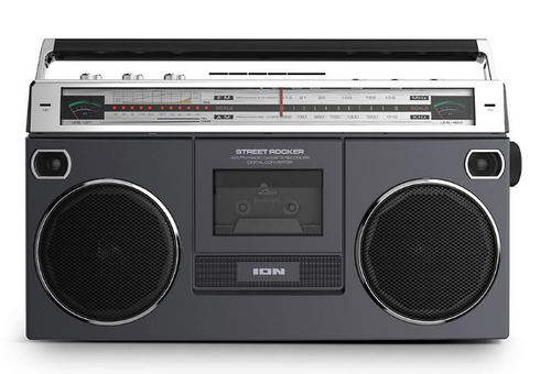 ION Audio Street Rocker Retro Portable Stereo Boombox with Wireless Streaming (ISP112BK STREETROCKERXUS )