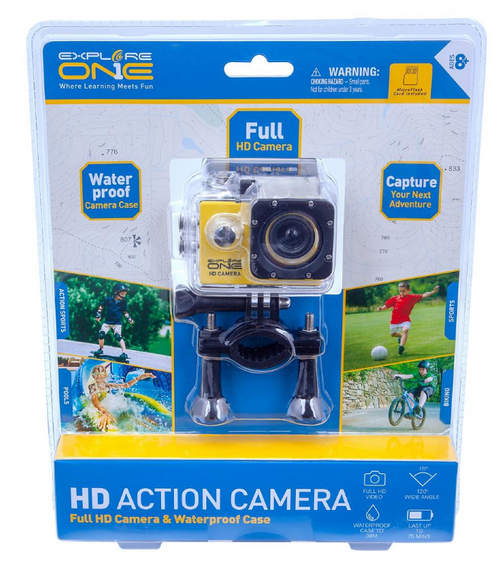 ExploreOne 12MP HD Action Camera - Assorted Styles (88-83000 )