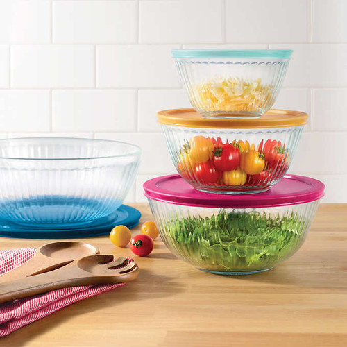 Pyrex 4-piece Glass Sculpted Mixing Bowls (1119590)