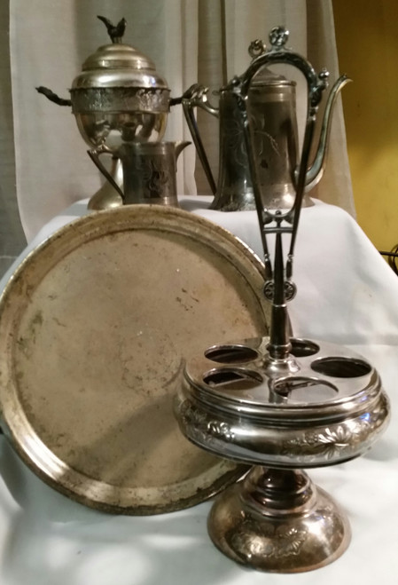 Vintage Silver Home & Kitchen Collection (5 pc lot)