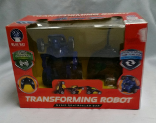 TRANSFORMING ROBOT BLUE RC ROBOT JR. RADIO CONTROLLED CAR IN BLUE