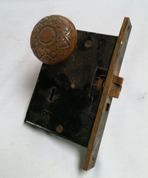 Vintage Door Knobs set with lock set