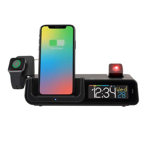 La Crosse Technology Wattz Wireless Charging Projection Alarm Clock