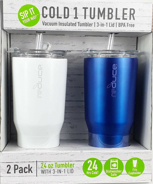 Cold 1 Tumbler Blue and White 24 oz (842815107730)