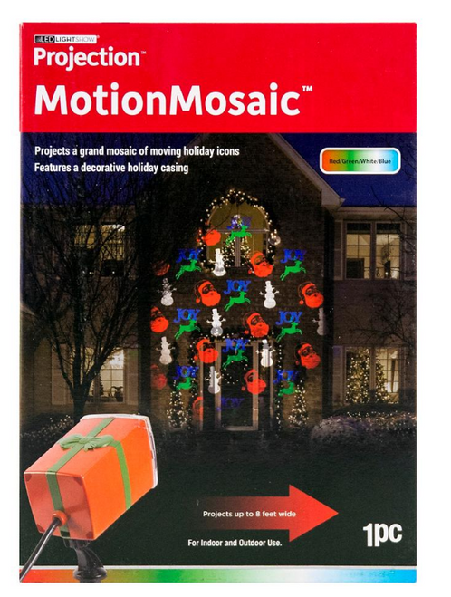 Gemmy LightShow MotionMosaic Projection - Santa/Reindeer/Joy/Snowman