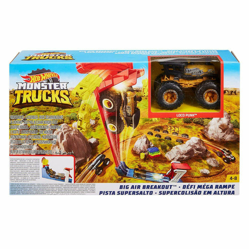Hot Wheels Monster Trucks Big Air Breakout Playset (887961726657)