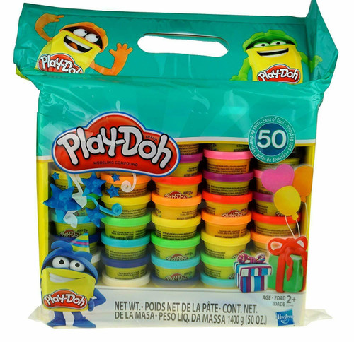 Play-Doh Modeling Compound 50- Value Pack , Non-Toxic, Assorted Colors (630509679515)