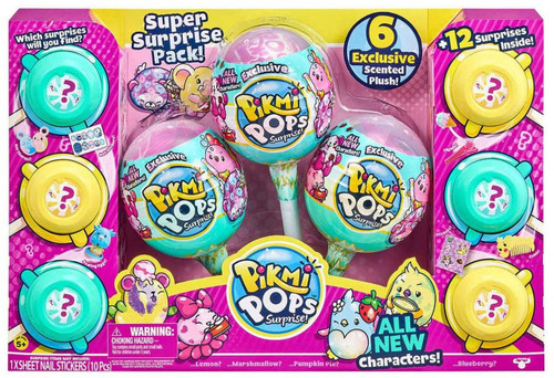 Pikmi Pops Surprise! Super Surprise Pack Mystery 6-Pack (630996754733 )