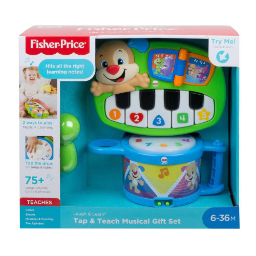 Fisher Price Laugh & Learn Tap & Teach Musical Gift Set (887961814941)