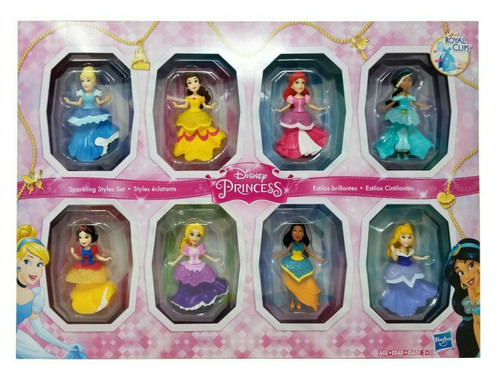 Disney Princess Sparkling Styles Set Hasbro 8 Dolls (630509853441)