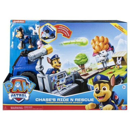 PAW PATROL CHASE'S RIDE N RESCUE TRANSFORMING 2-IN-1 PLAYSET (778988188897)