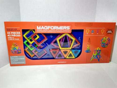 Magformers 43 Piece Children's Intelligent Magnetic Construction Shapes (730658630679)