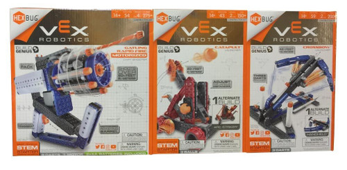 VEX Robotics Launchers STEM Construction Kit Bundle, 3-pack (807648067613)