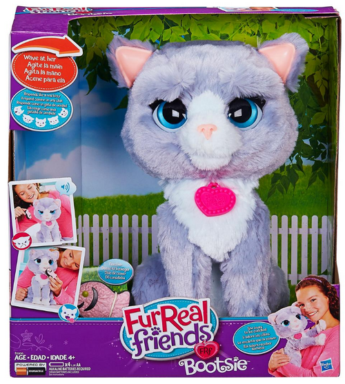 furReal Friends Bootsie Interactive Plush Kitty Toy (E5936)