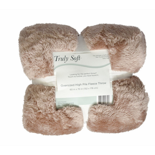 Truly Soft High-Pile Fleece Throw ( 71909 )