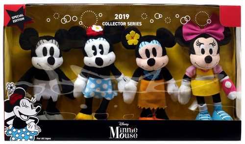 Disney 2019 Collector Series Minnie or Mickey Mouse 8.5-Inch Plush Set
