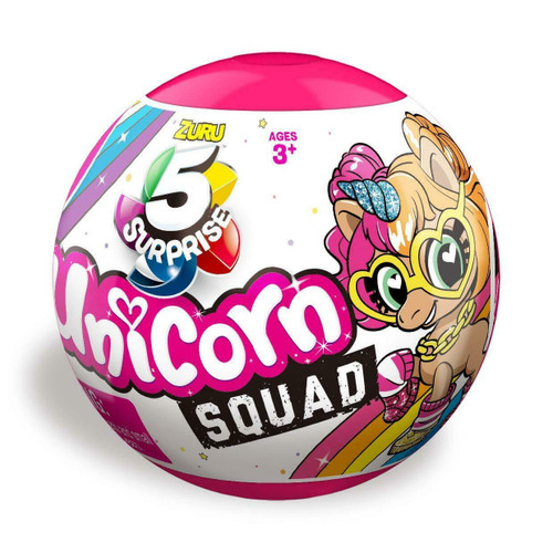 5 Surprise Unicorn Squad 2 Pack Mystery Collectible Capsule by ZURU ( 193052003409)