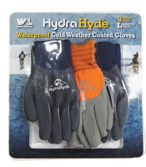 Wells Lamont HydraHyde Coated Winter Gloves, 3 pk. ( TBD )