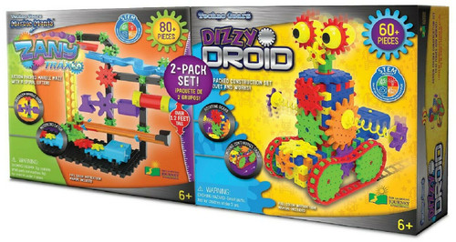 The Learning Journey Techno Gears STEM Construction 2 Pack Set - Dizzy Droid & Z