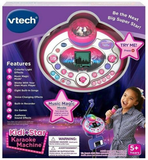 VTech Kidi Star Karaoke Machine with Color Changing Disco Lights (80-165800 )