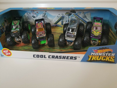 Hot Wheels Monster Trucks 4 Pack Set ( 887961720358)