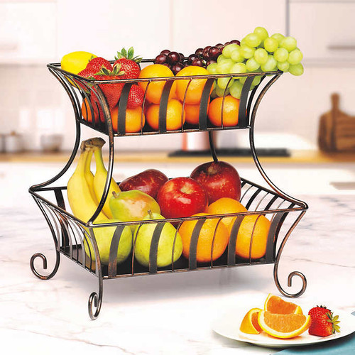 Mesa 2-tier Wrought Iron Basket ( 947991)