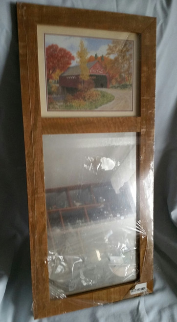 Wood frame mirror with Photo Frame of Covered Bridge