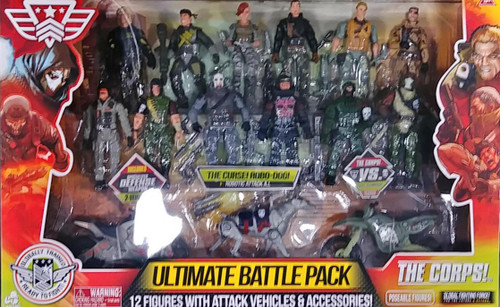 The Corps! Ultimate Battle Pack Army Action Figure Pack 14 pc with Robo Dog (048242338611)