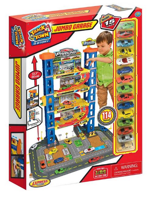 Express Wheels 114-Pc. Track 'N Town Jumbo Garage (31424PDQ)