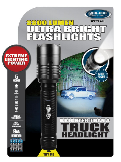 Police Security 3,300-Lumen Flashlight (224000)