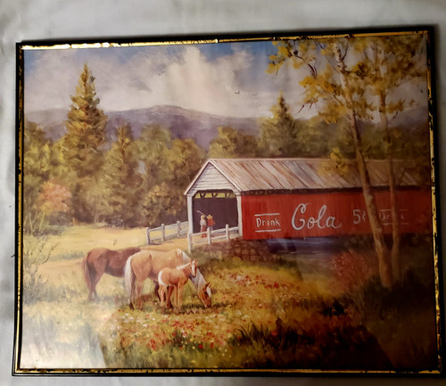 """Covered Bridge Print 16"""" x 20"""" with glass front"""