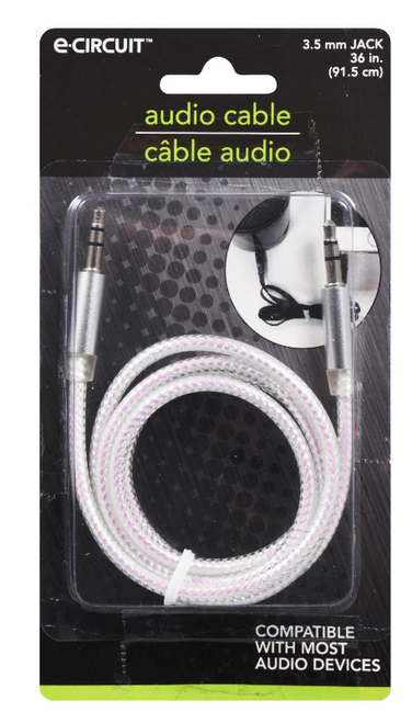 E-Circuit Colored Audio Cables, 36 in. ( 289063)