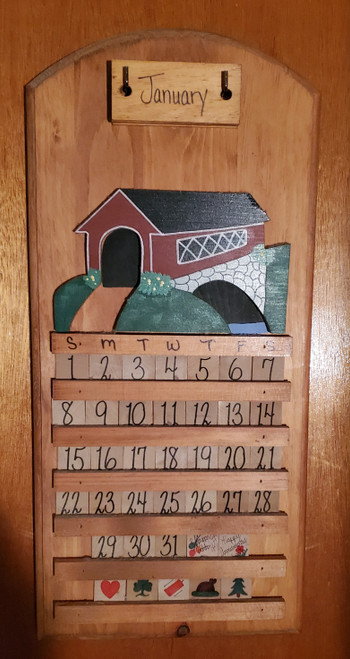Perpetual Covered Bridge Calendar (bob2