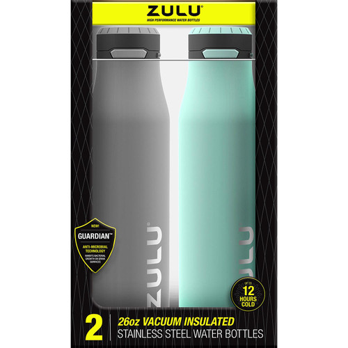 ZULU 26 oz. Stainless Insulated Water Bottle, 2 Pack (482-2934-935-6 |