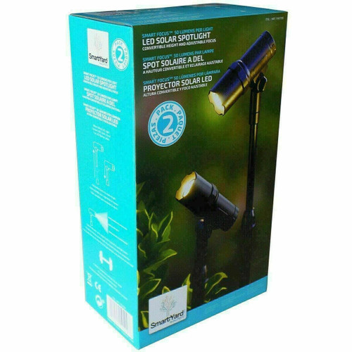 Smartyard LED Solar Spot Lights, 2-pack (10339)