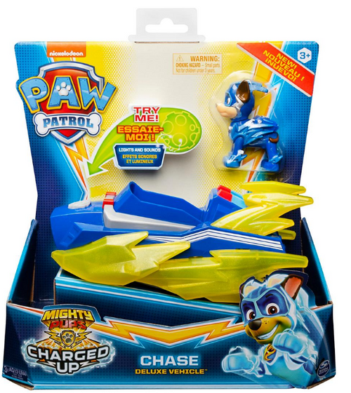 PAW Patrol Mighty Pups Super PAWs Deluxe Vehicle with Lights and Sounds - Assorted Styles (6055104 )
