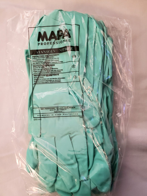 "Professional Industrial 13"" Nitrile Gloves (a-10)"
