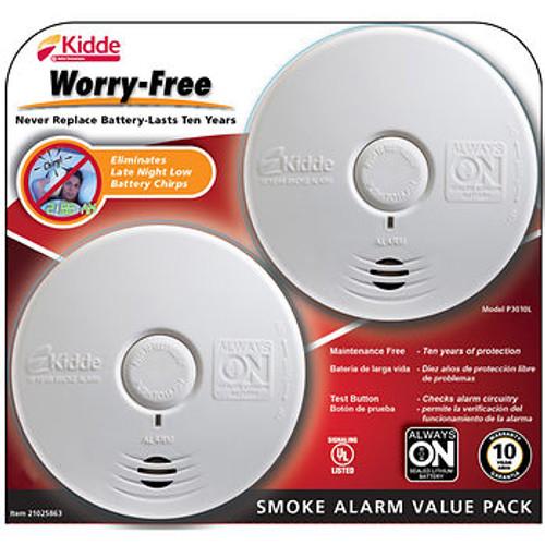 Kidde Worry-Free Smoke Alarm, 2 pk. ( P3010L )