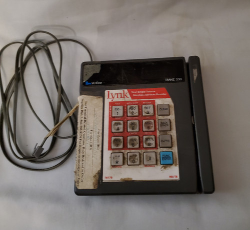 Vintage Electronic Credit Card Reader with Credit Card imprinter Buy the set (store use)