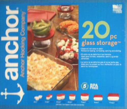 Anchor Hocking 20 pc Glass Storage