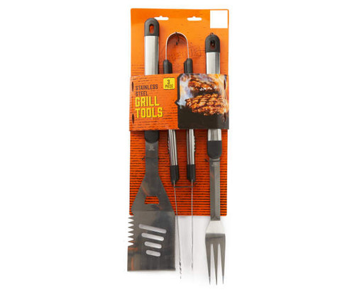 Stainless Steel 3-Piece Grill Tool Set (56952)