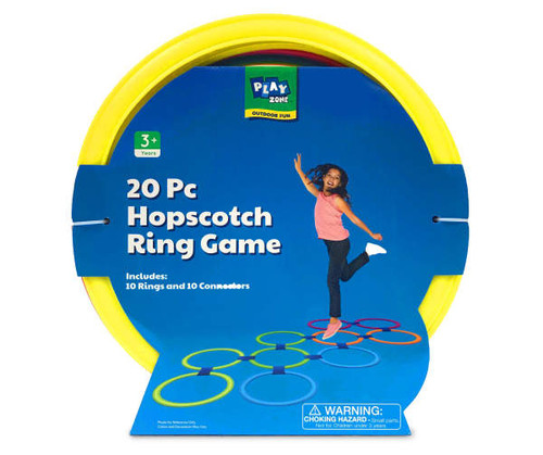 Play Zone 20-Piece Hopscotch Ring Game Set (457503)