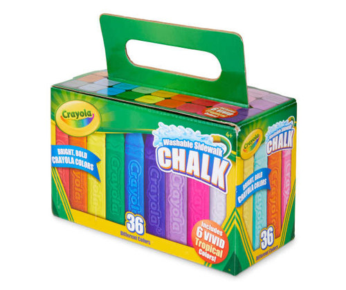 Crayola 36-Piece Washable Sidewalk Chalk (457610)