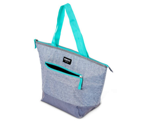 Igloo Essential Mint & Gray Textured 14-Can Cooler Tote (458768)