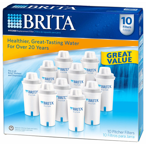 Brita Pour-Through Pitcher Replacement Filter, 10 pk. (632880)