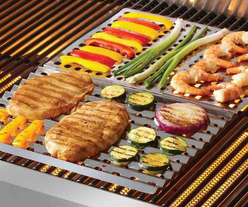 Mr. Bar-B-Q Dual Sided Stainless Steel Searing Grill Topper (20566)