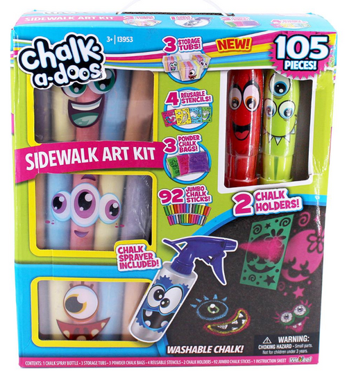 Scentos Chalk-A-Doos 105-Pc. Sidewalk Art Chalk Kit ( 233884)